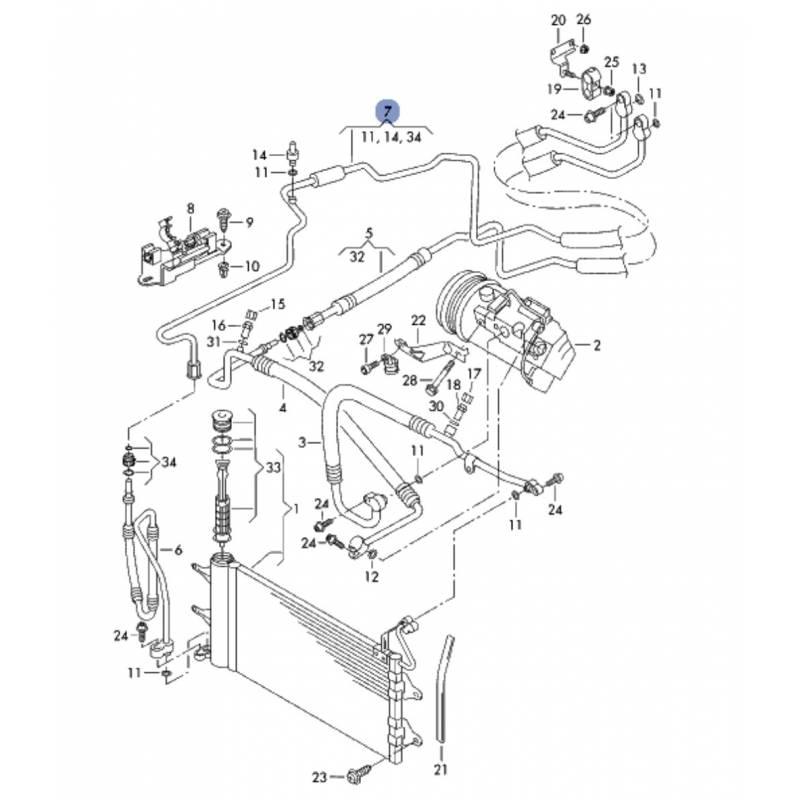 tuyau de climatisation  flexible de r u00e9frig u00e9rant ref