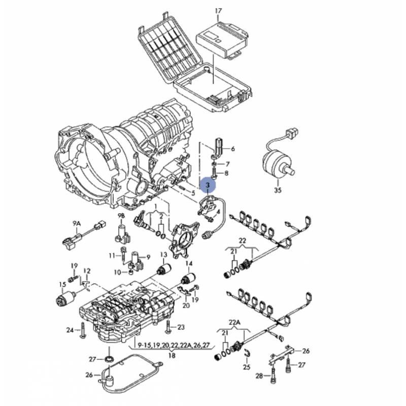 capteur  contacteur multifonction pour boite de vitesses automatique ref 01v919821  01v919821c