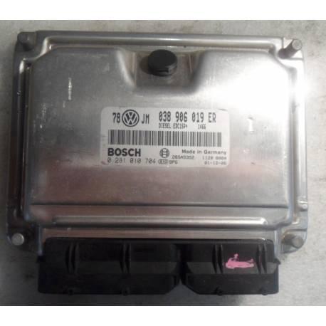 Calculateur moteur pour VW Passat 1L9 TDI 130 cv ref 038906019ER / Ref Bosch 0281010704