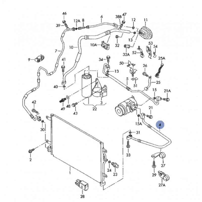tuyau de climatisation    flexible de r u00e9frig u00e9rant pour audi