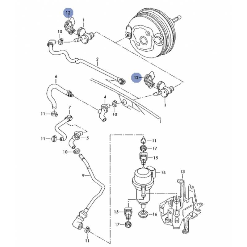 capteur de pression pour durite d u0026 39 assistance au freinage