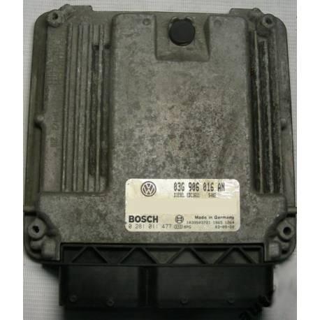 Calculateur moteur pour VW Golf 5 ref 03G906016AN / 03G906016ET / ref Bosch 0281011477