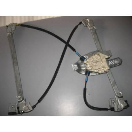 Mécanisme lève-vitre avant conducteur avec moteur pour Peugeot 607 ref 9650734880 / 922192 - 9221Q2