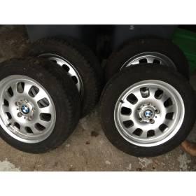 4 jantes alu 16 pouces pour BMW série 3 avec pneus Michelin Energy Taille 205 55 R16