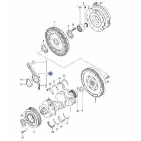 1 série de bielles pour 2L7 V6 TDI Audi A4 / A6 ref 059198401E