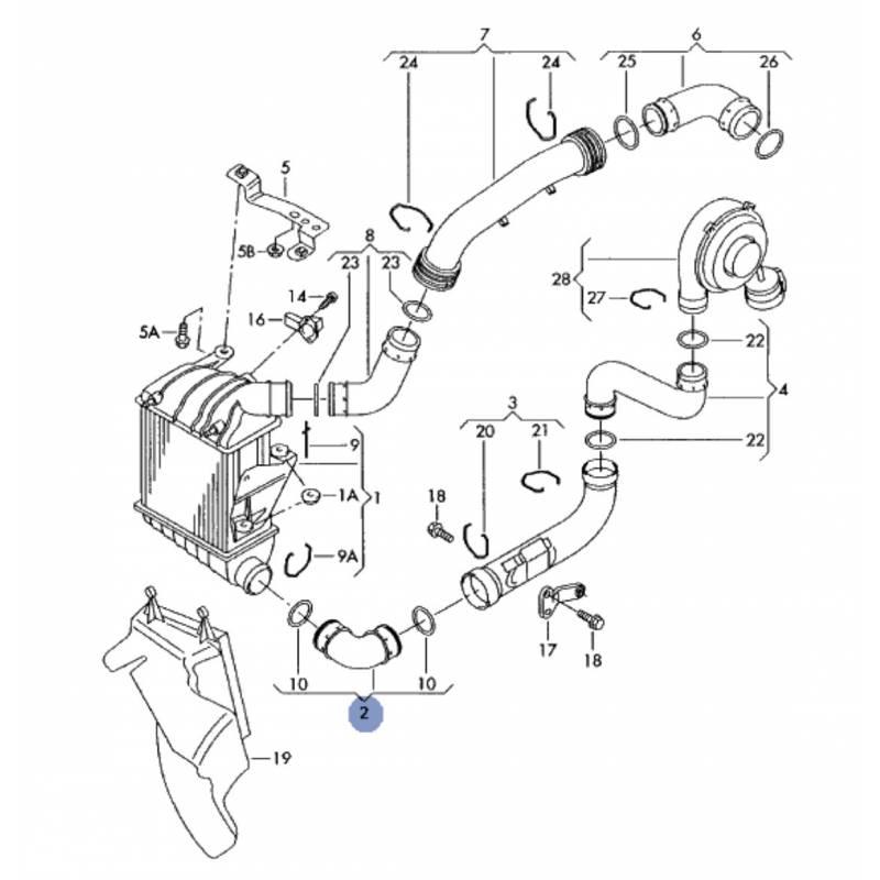 durite  flexible de pression ref 6q0145832c