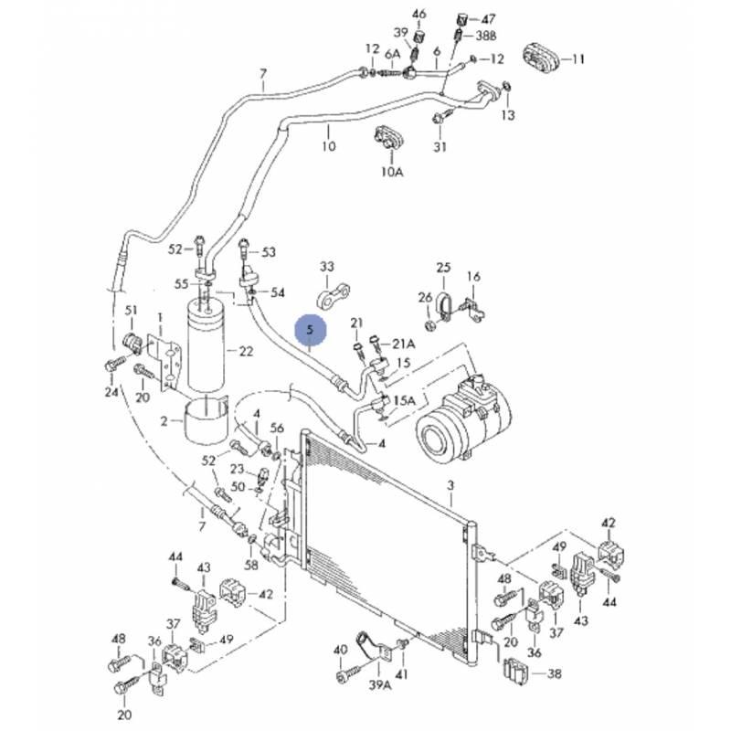 tuyau de climatisation    flexible de r u00e9frig u00e9rant pour 1l9