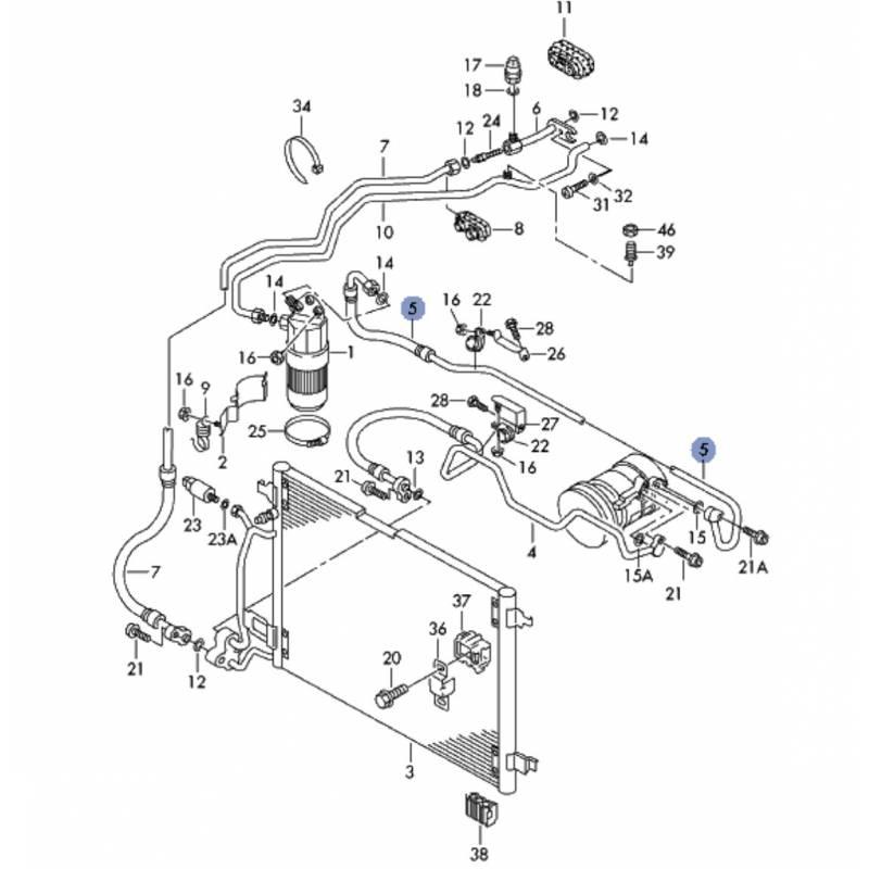 tuyau de climatisation  flexible de r u00e9frig u00e9rant ref 8d0260704n  8d0260707n  8d0260701n