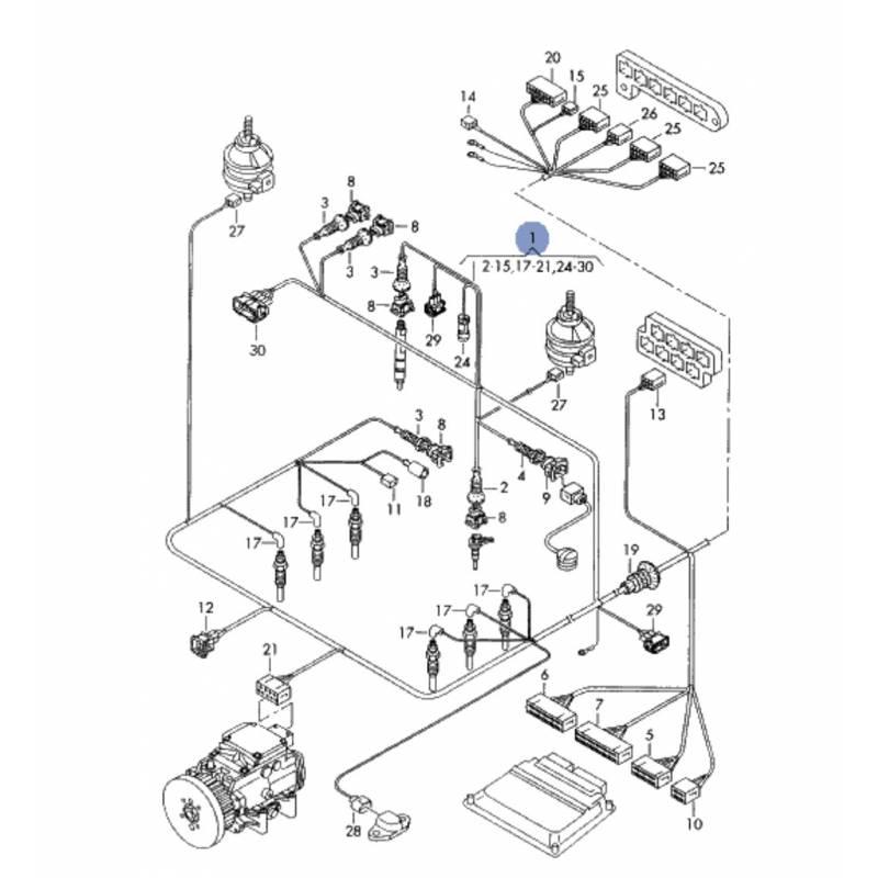 faisceau    c u00e2blage de compartiment moteur pour audi a6 2l5