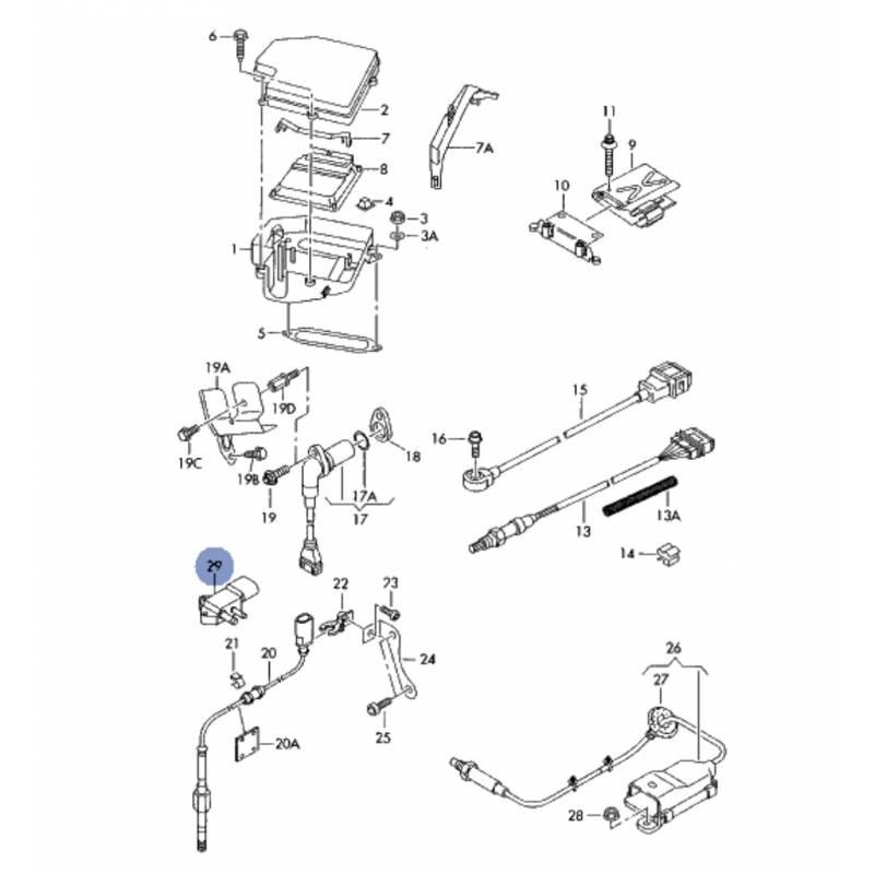 Sensor Of Differential Pressure For Audi Seat Vw Skoda Ref Amb Engine Diagrams 059906051a 07z906051b 0281006006
