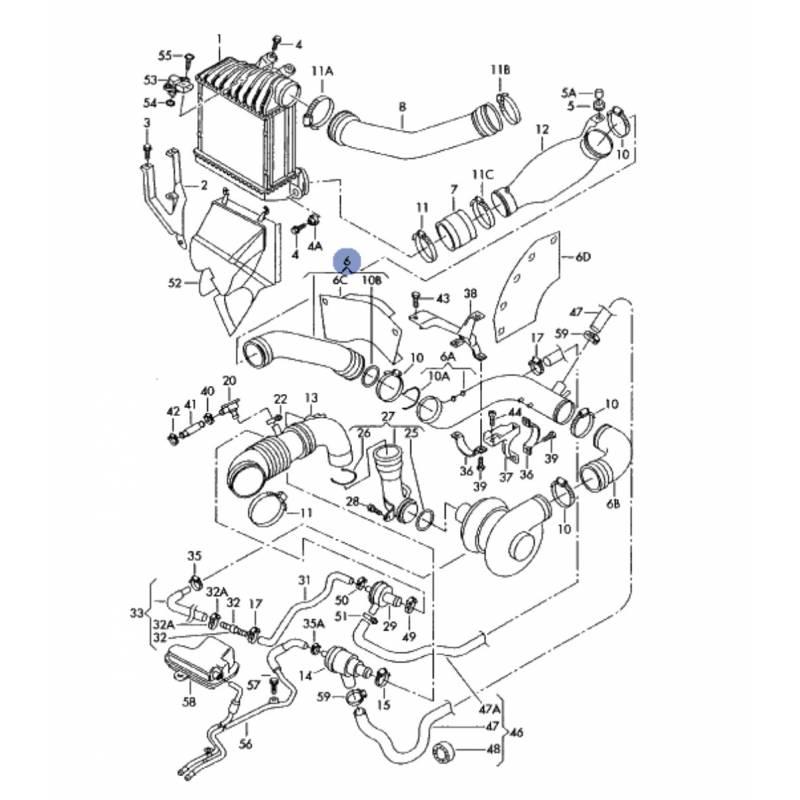 durite  tuyau de pression pour 1l8 turbo ref 06a145790a