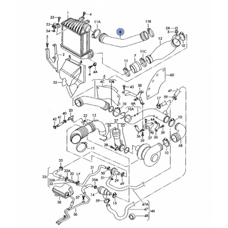durite flexible de pression pour 1l8 turbo ref 06a145708 06a145708b 06a145708d 06a145708ab. Black Bedroom Furniture Sets. Home Design Ideas