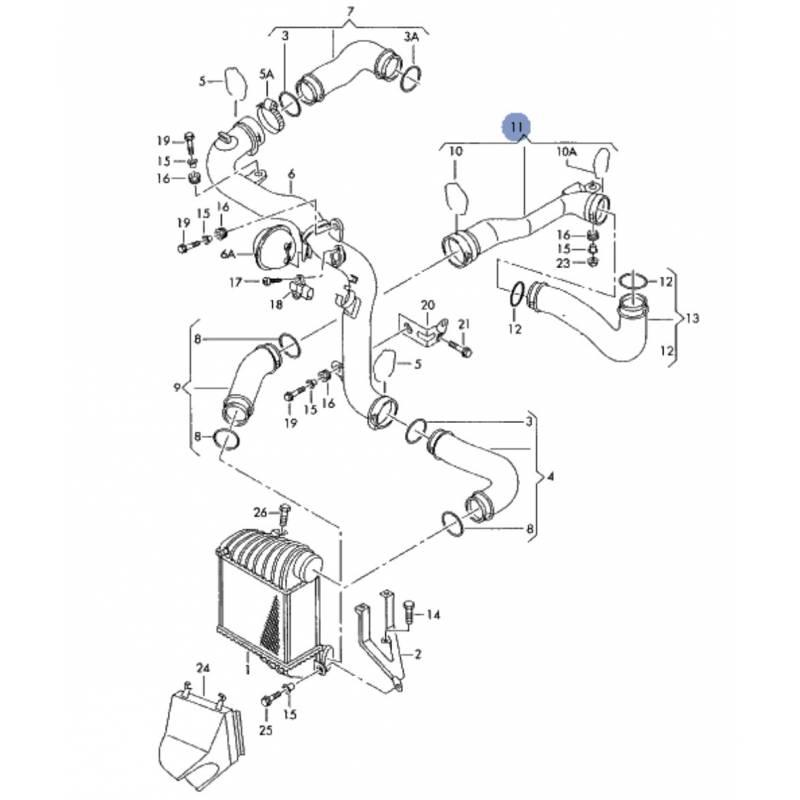 durite  tuyau de pression pour 1l9 tdi 130 cv ref 1j0145762bd