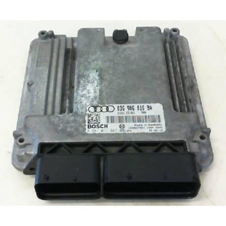 Calculateur moteur pour Audi A3 2L TDI ref 03G906016BA / 03G997016QX / Ref Bosch 0281011847