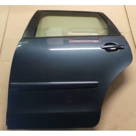 Porte arrière conducteur coloris gris foncé LC7V pour VW Polo 9N ref 6Q6833055H