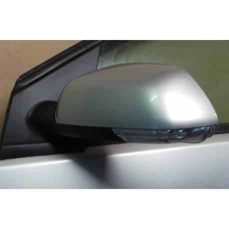 Rétroviseur conducteur électrique coloris gris clair LA7W pour VW Polo 9N de 2005 à 2010 ref 6Q2857507T