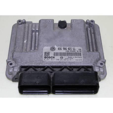 Calculateur moteur pour Seat Leon 2L TDI 140 cv BKD ref 03G906021LL / Ref Bosch 0281013280