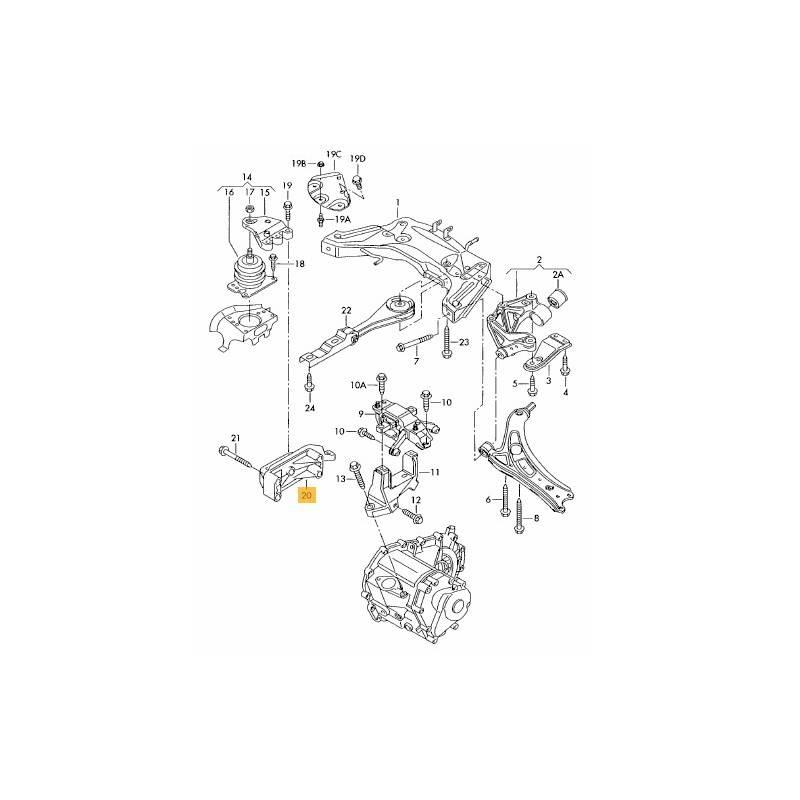 support moteur  console  appui pour 1l4 tdi ref 045199207h