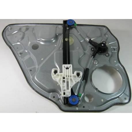 Mécanisme de lève-vitre arrière passager sans moteur pour VW Polo 9N 5 portes ref 6Q4839462D / 6Q4839462F