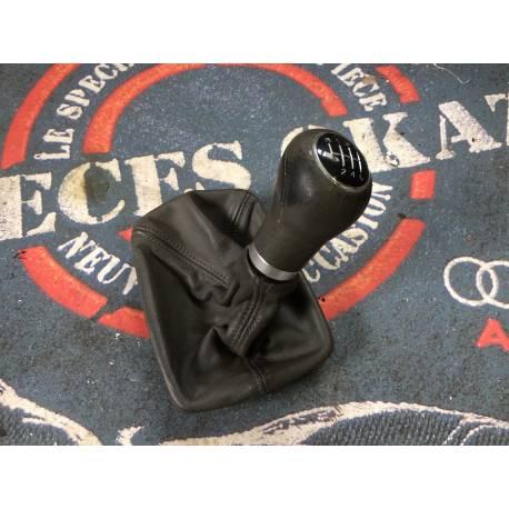 Pommeau + soufflet cuir gris foncé pour boite 6 rapports pour Audi A4 B6 ref 8E0863278CK 1LT