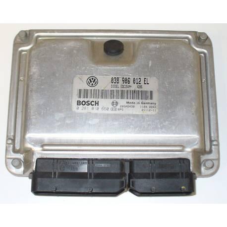 Calculateur moteur pour VW Polo 1L9 SDI ASY ref 038906012EL / 0 281 010 660 / 0281010660