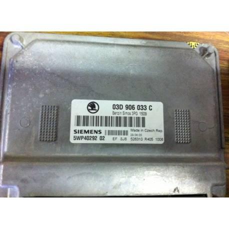 Calculateur moteur pour Skoda Octavia / Fabia 1.2 ref 03D906033C 5WP40292 02