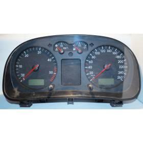 Compteur / combiné porte-instruments avec 279.404 kms pour VW Bora / Golf 4 ref 1J0920805G / 1J0920805GX