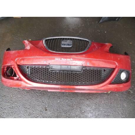 Pare-chocs avant pour Seat Leon 2 coloris rouge bordeaux LS3X ref 1P0807217AA GRU