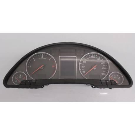 Compteur / combiné porte-instruments pour Audi A4 type B6 ref 8E0920900K / 8E0920900M / 8E0920900MX