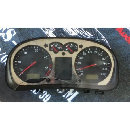 Compteur / combiné porte-instruments avec vitre cassée pour VW Golf 4 et Bora ref 1J0919880D / 1J0919880DX