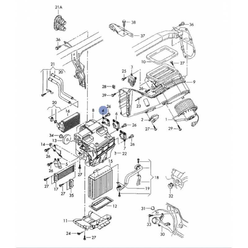 servomoteur de volet de regulation de la temperature pour