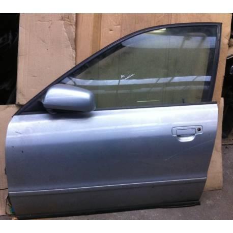 Porte avant gauche conducteur pour Audi A4 B5 phase 1 coloris gris argent LY7M ref 8D0831051B