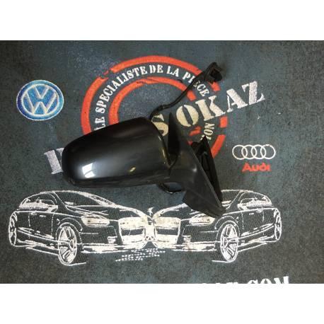 Rétroviseur passager électrique coloris gris foncé LC7V pour VW Polo 9N de 2005 à 2010 ref 6Q2857508T