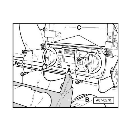 Méthode de remplacement climatronic pour Audi TT 8N ref 8N0820043 / 8N0820043A