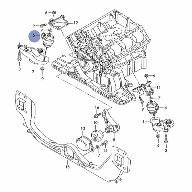support moteur  coussinet hydraulique pour audi a4 ref
