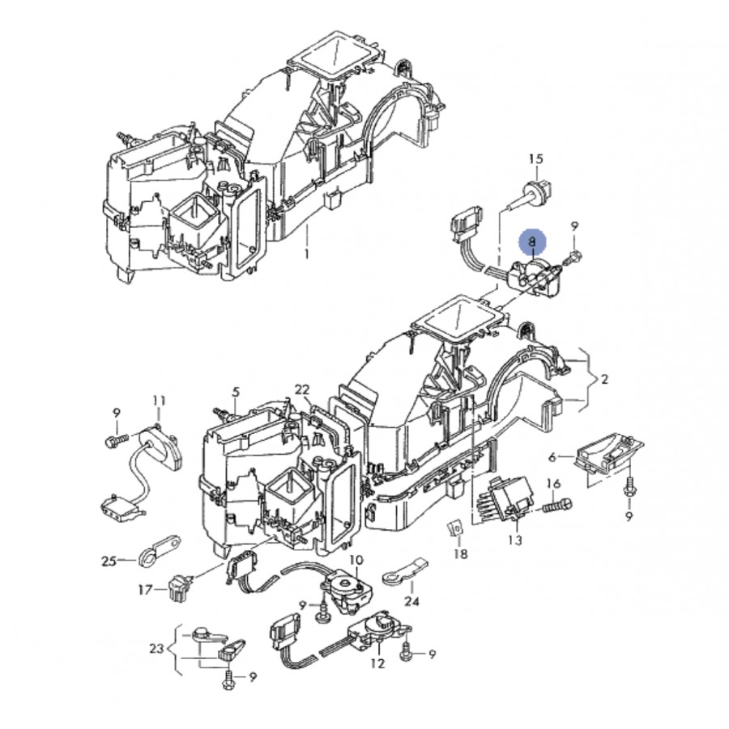 servomotor para la recirculaci u00f3n de aire para audi  seat