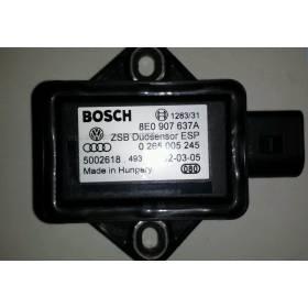 Capteur combiné d'accélération ESP G419 pour Audi / Seat / VW / Skoda ref 8E0907637A / 0265005245