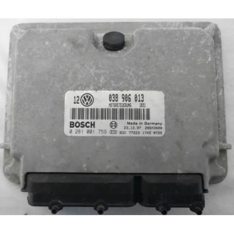 Calculateur moteur pour VW Golf 4 1L9 SDI AGP ref 038906013 / Ref Bosch 0281001759 / 0 281 001 759