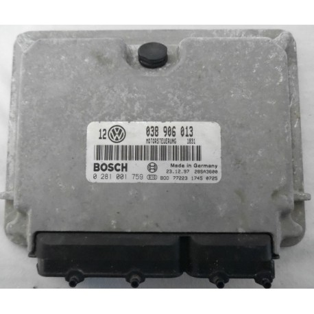 Engine control for VW Golf 4 1L9 SDI AGP ref 038906013 / Ref Bosch 0281001759 / 0 281 001 759