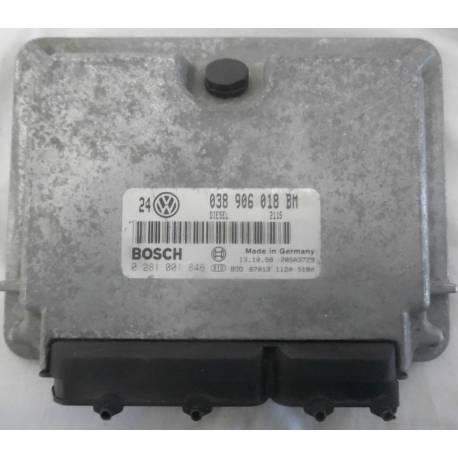 Calculateur moteur pour VW Golf 4 / Bora 1L9 TDI 110 cv AHF ref 038906018BM / ref Bosch 0281001845 / 0 281 001 845