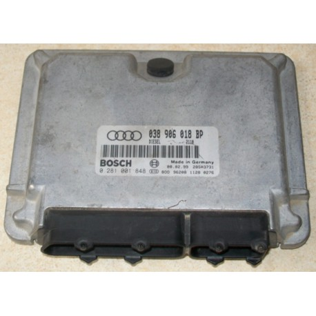 Engine control for Audi A3 1L9 TDI 110 cv AHF ref 038906018BP / Ref Bosch 0281001848 / 0 281 001 848