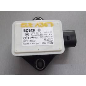 Capteur combiné d'accélération ESP G419 pour Audi A6 4F / R8 / Seat Exeo ref 4F0907637A / 0265005776