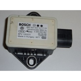 Capteur lacet pour Audi A4 / A5 / Q5 ref 8K0907637A / 8K0907637C / ref Bosch 0265005667