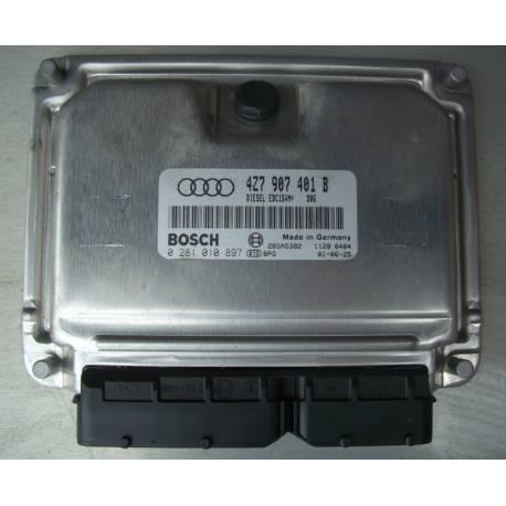 Calculateur moteur pour Audi A6 Allroad V6 180 cv AKE ref 4Z7907401B / 4Z7907401AX Ref Bosch 0281010897 / 0 281 010 897