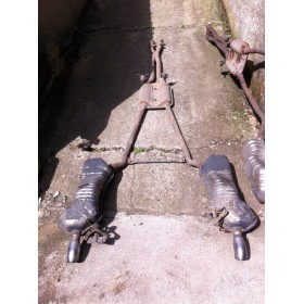 Exhaust line / Front silencer with rear silencer AUDI A6 all road  2.5L V6 TDI ref 4B0253609ET / 4B0253609ES / 4B0253409G