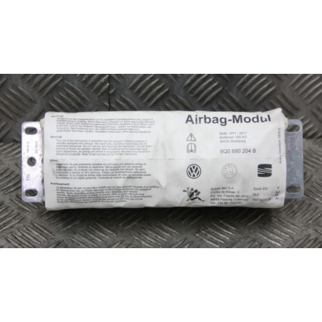 Airbag for passenger / Unit of inflatable bag for VW / Seat / Skoda ref 6Q0880204B / 6Q0880204E / 6Q0880204F / 6Q0880204G