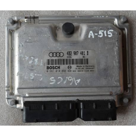 Calculateur moteur pour Audi A6 2L5 V6 TDI 180 cv ref 4B2907401B / 0281010098
