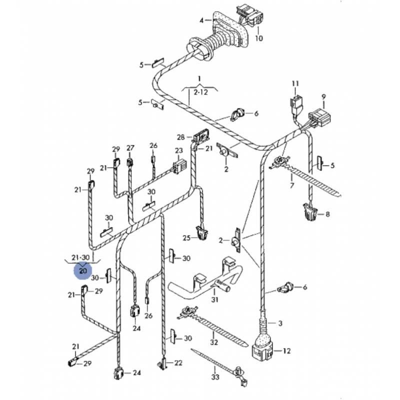 cableado  circuitos de cablesaccesorios de la puerta