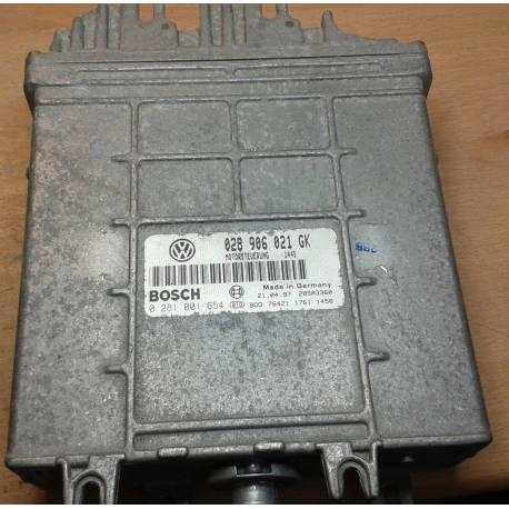 Calculateur moteur pour VW Passat 1L9 TDI ref 028906021GK / 0281001653/654