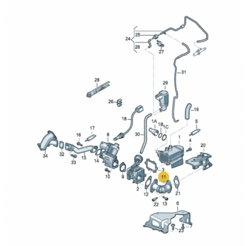 Durite tuyau de liaison pour audi a4 a5 q7 vw phaeton